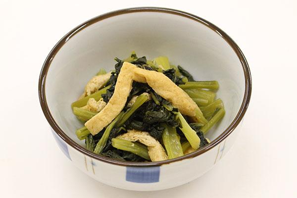 「県産小松菜の煮びたし」